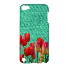 Green Denim Flowers Apple Ipod Touch 5 Hardshell Case by snowwhitegirl