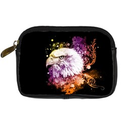 Awesome Eagle With Flowers Digital Camera Cases by FantasyWorld7