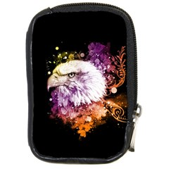 Awesome Eagle With Flowers Compact Camera Cases by FantasyWorld7