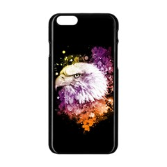 Awesome Eagle With Flowers Apple Iphone 6/6s Black Enamel Case by FantasyWorld7
