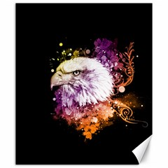 Awesome Eagle With Flowers Canvas 20  X 24