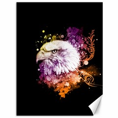 Awesome Eagle With Flowers Canvas 36  X 48   by FantasyWorld7