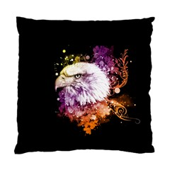 Awesome Eagle With Flowers Standard Cushion Case (two Sides) by FantasyWorld7