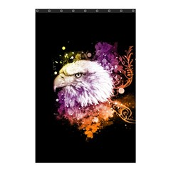 Awesome Eagle With Flowers Shower Curtain 48  X 72  (small)  by FantasyWorld7