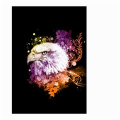 Awesome Eagle With Flowers Small Garden Flag (two Sides)