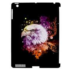Awesome Eagle With Flowers Apple Ipad 3/4 Hardshell Case (compatible With Smart Cover) by FantasyWorld7