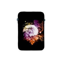 Awesome Eagle With Flowers Apple Ipad Mini Protective Soft Cases by FantasyWorld7