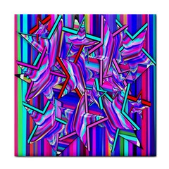 Stars Beveled 3d Abstract Stripes Tile Coasters