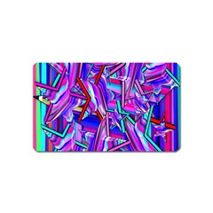 Stars Beveled 3d Abstract Stripes Magnet (name Card)