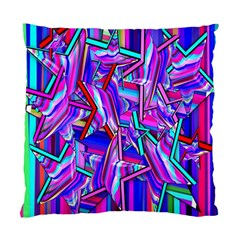 Stars Beveled 3d Abstract Stripes Standard Cushion Case (one Side)