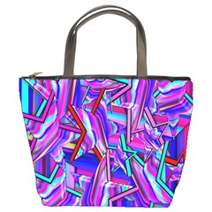 Stars Beveled 3d Abstract Stripes Bucket Bags