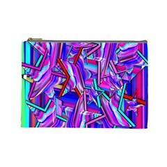 Stars Beveled 3d Abstract Stripes Cosmetic Bag (large)