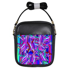 Stars Beveled 3d Abstract Stripes Girls Sling Bags