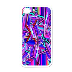 Stars Beveled 3d Abstract Stripes Apple Iphone 4 Case (white)