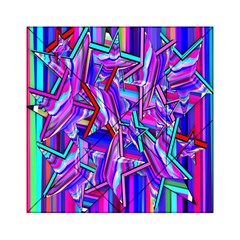 Stars Beveled 3d Abstract Stripes Acrylic Tangram Puzzle (6  X 6 )