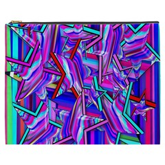 Stars Beveled 3d Abstract Stripes Cosmetic Bag (xxxl)