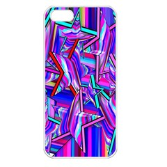 Stars Beveled 3d Abstract Stripes Apple Iphone 5 Seamless Case (white) by Nexatart
