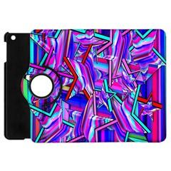 Stars Beveled 3d Abstract Stripes Apple Ipad Mini Flip 360 Case
