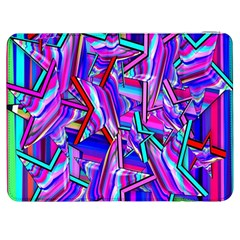 Stars Beveled 3d Abstract Stripes Samsung Galaxy Tab 7  P1000 Flip Case