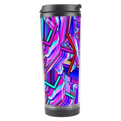 Stars Beveled 3d Abstract Stripes Travel Tumbler