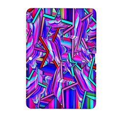 Stars Beveled 3d Abstract Stripes Samsung Galaxy Tab 2 (10 1 ) P5100 Hardshell Case