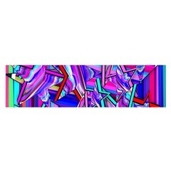 Stars Beveled 3d Abstract Stripes Satin Scarf (oblong)