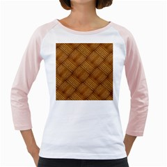 Wood Texture Background Oak Girly Raglans
