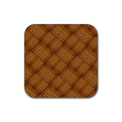 Wood Texture Background Oak Rubber Square Coaster (4 Pack)