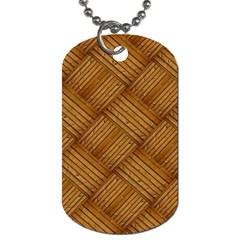 Wood Texture Background Oak Dog Tag (two Sides)
