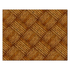 Wood Texture Background Oak Rectangular Jigsaw Puzzl