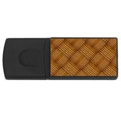 Wood Texture Background Oak Rectangular Usb Flash Drive by Nexatart