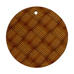 Wood Texture Background Oak Round Ornament (two Sides)