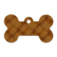 Wood Texture Background Oak Dog Tag Bone (two Sides)
