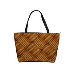 Wood Texture Background Oak Shoulder Handbags