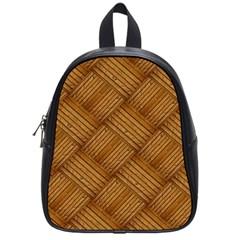Wood Texture Background Oak School Bag (small)