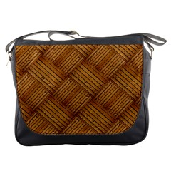 Wood Texture Background Oak Messenger Bags