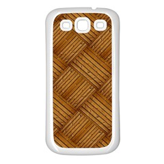 Wood Texture Background Oak Samsung Galaxy S3 Back Case (white)