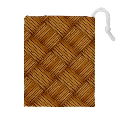 Wood Texture Background Oak Drawstring Pouches (extra Large)