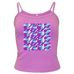 Fabric Textile Texture Purple Aqua Dark Spaghetti Tank
