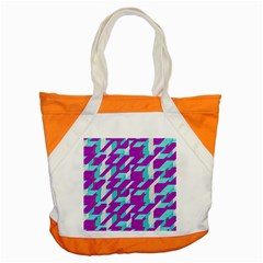 Fabric Textile Texture Purple Aqua Accent Tote Bag