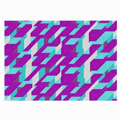 Fabric Textile Texture Purple Aqua Large Glasses Cloth (2 Side)
