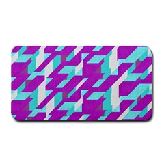 Fabric Textile Texture Purple Aqua Medium Bar Mats