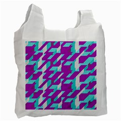 Fabric Textile Texture Purple Aqua Recycle Bag (one Side)