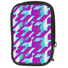 Fabric Textile Texture Purple Aqua Compact Camera Cases