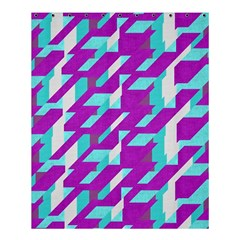 Fabric Textile Texture Purple Aqua Shower Curtain 60  X 72  (medium)