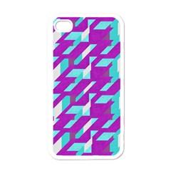Fabric Textile Texture Purple Aqua Apple Iphone 4 Case (white)