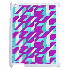 Fabric Textile Texture Purple Aqua Apple Ipad 2 Case (white)