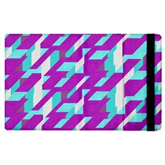 Fabric Textile Texture Purple Aqua Apple Ipad 3/4 Flip Case