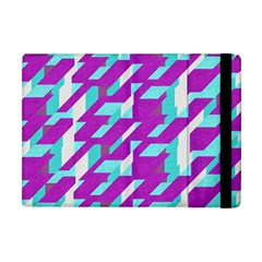 Fabric Textile Texture Purple Aqua Apple Ipad Mini Flip Case