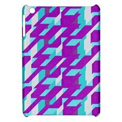 Fabric Textile Texture Purple Aqua Apple Ipad Mini Hardshell Case